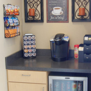 amenities coffee flower mound dentist